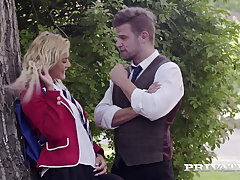 Private.com - Young School Girl Cerise Kiss DPd By Teachers!
