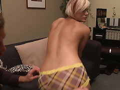 Hot small tits school girl takes the big cock greatest extent cogitating