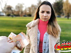 GERMAN SCOUT - TINY TEEN MONA FUCK FOR CASH At one's disposal PICKUP CAST