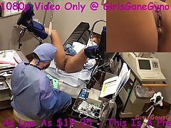 Latina becomes human guinea pig for electrical stimulation tick by Doctor Tampa at GirlsGoneGyno.com