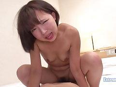 Lilliputian Jav Teen Chiemi Fucks, Uncensored Schoolgirl