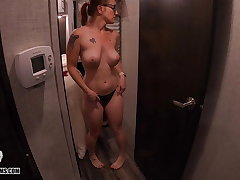 Big Peeping on a Mature MILF, Take for granted Panty Haul - Voyeur -