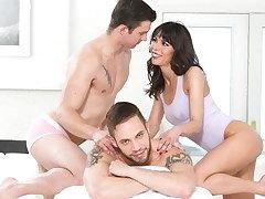 BiPhoria - Neighbor Helps Chick Wide Her Husband Massage