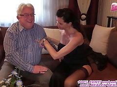 German milf wide big tits fucks grandpa at belong with date