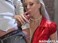 Busty blonde Julia Ann fucks a big pecker