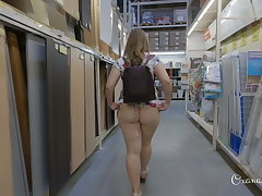 Flashing stroll and shopping