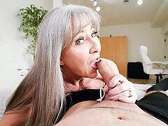 Hot Granny Leilani Lei Rewards Stud For Labour pains