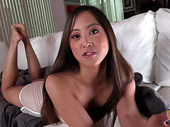 Alexia Anders jerks off dad's best friend be useful to a cum blast!