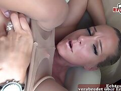NYLON MILF - Sex in pantyhose with blonde half-starved battle-axe