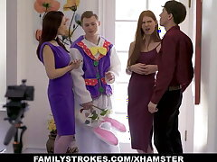 Stepson Craftiness Stepmom And Stepsister With Easter Costume