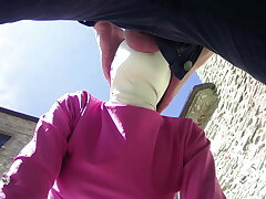 socialistic gadget in outdoor blowjob and voiced creampie