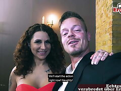 REAL ONLINE SEXDATE - German couple on romantic assignment – big tits