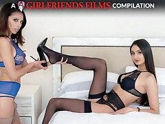 Girls Close to Stockings Lesbian Compilation - GirlfriendsFilms