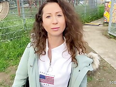 GERMAN SCOUT - TEEN JULIA HAS ANAL SEX AT REAL STREET CASTING