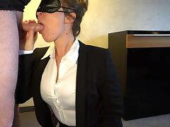 sexy secretary – deepthroat and frontal sex - business-bitch