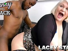 GRANNYLOVESBLACK - Lacey Pays Taxi Cup-boy With Sex