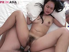 Tiny perishable Asian girl creampied by a Japanese man