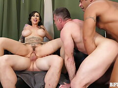 Lily Lane Gets her Boyfriend FUCKED in Androgyne Threesome!
