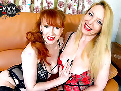 Red XXX and Lucy Gresty masturbating with their toys