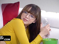 Petite Sneaky Teen Slut With Glasses Gets Caught Fucking