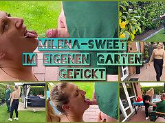 MilenaSweet fucked wide of her own gardener