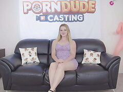 Big exasperation blonde slut Eliza Eves gets creampied after hardcore