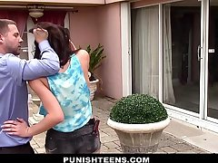 PunishTeens - Sneaky Teen Fucked with an increment of Abused By Neighbor