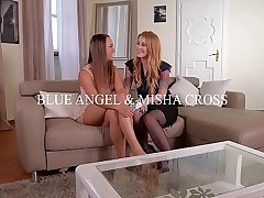 Teen Misha Cross Fucked far the Ass In the long run b for a long time Licking Blue Angel's Juicy Twat