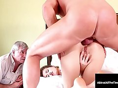 Step Sky pilot Watches Step Son Haley Reed Get Anal Pounded !