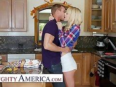 Naughty America - Older guys beg Kenna James hot and horny