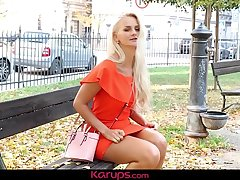 Karups - Busty Babe Katy Sky Dildos Trimmed Pussy