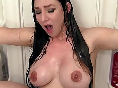 Eloquent Mommy Wife Kristi Fucks Son in the Shower - Fauxcest Interdiction
