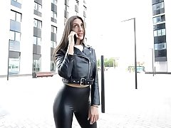 Leggings leather meet