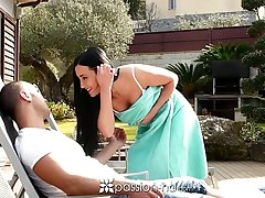 Passion-HD - Pitch-dark with fine bore Anna Rose gets mor
