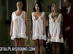 (Ryan Keely, Danny D, Bonnie Rotten, Ivy Lebelle) - Save Our Souls Scene 4 - Digital Playground
