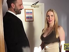 Submissive slut Georgie Lyall sucks
