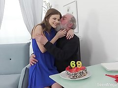 Old-n-Young.com - Sarah Kay - Happy birthday and felicitous orgasm!
