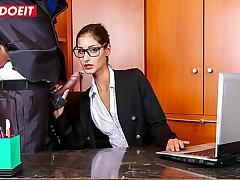 LETSDOEIT - Naughty Teen Secretary Coco Kiss Rides BBC At The Meeting