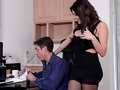 Lucky husband loves to Hardcore lose one's heart to his gorgeous hot wife Jaclyn Taylor