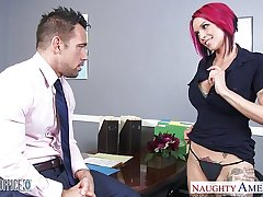 Pink haired office babe Anna Anxiety Peaks fucking